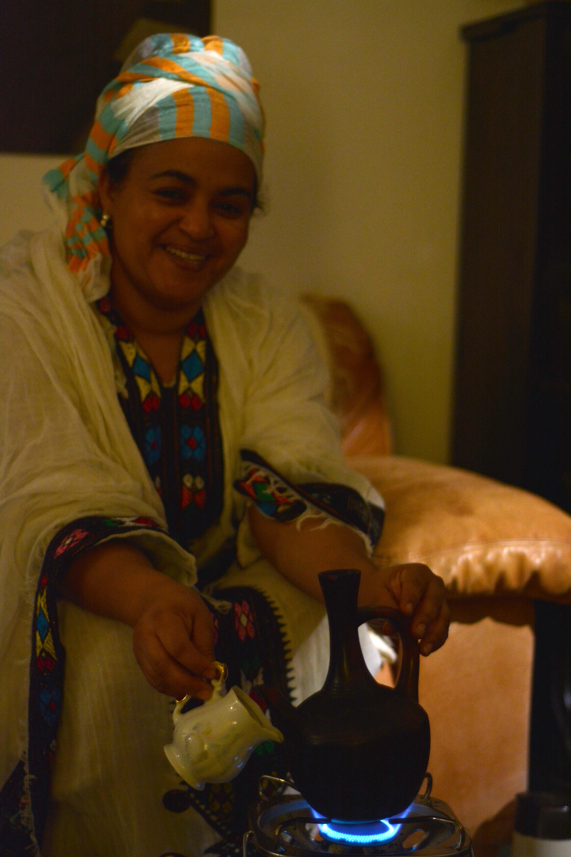 Fr, 20.11. - Dank der Kooperation mit der Äthiopischen Gemeinschaft gab es frisch gebrühten Kaffee
